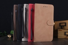 With Lanyard Hole Hot Business Crazy-horse PU Leather Stand Wallet Flip Case for iPhone 6 Plus British Style Holder Cover i6P121(China (Mainland))