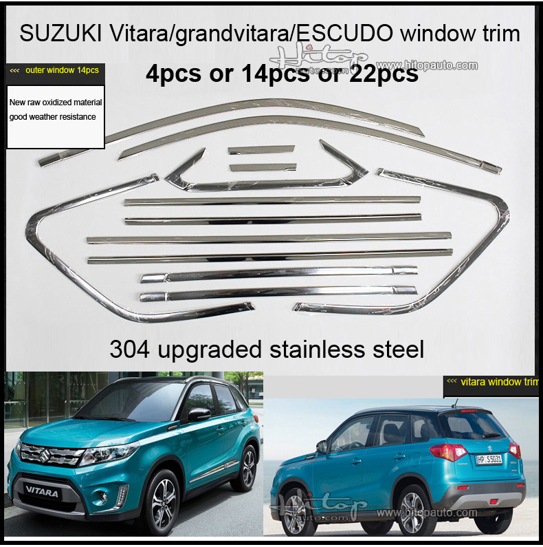 Suzuki Grand Vitara ESCUDO window trim window sill frame,4pcs 8pcs 14pcs 22pcs,different product,HITOP 5 years SUV experiences(China (Mainland))
