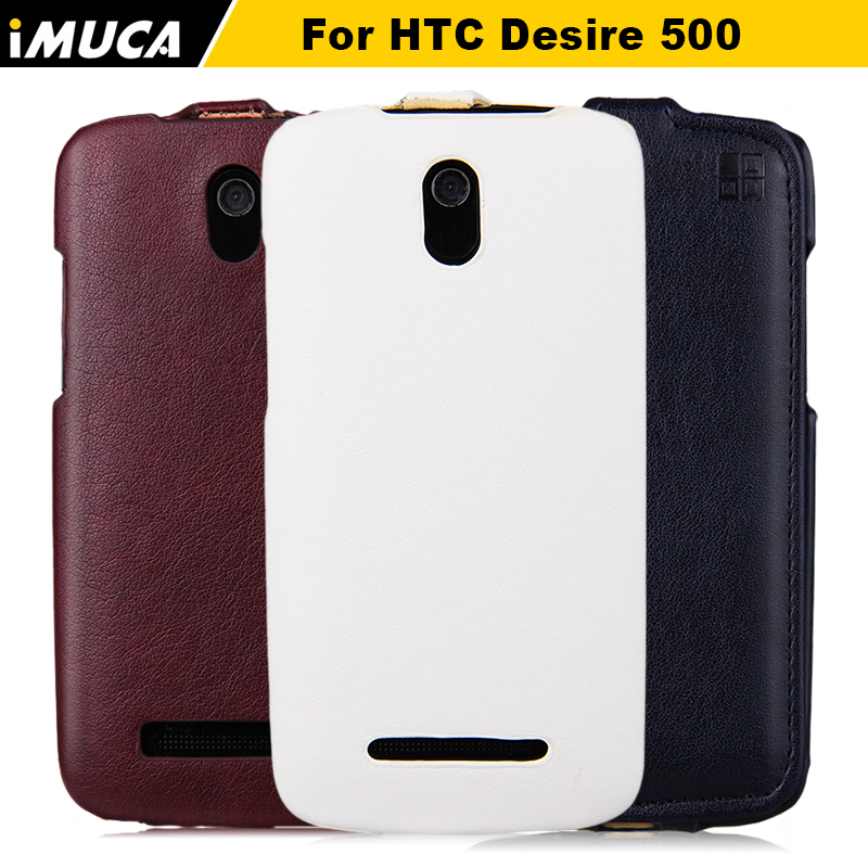 htc 500 case flip leather cover HTC Desire 506E 5088 5060 dual sim Case Phone Accessories&bag retail package - IMUCA flagship store