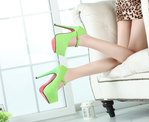 plus 40 45 46 brand buckle platforms wedding shoes 16cm. Black Bedroom Furniture Sets. Home Design Ideas