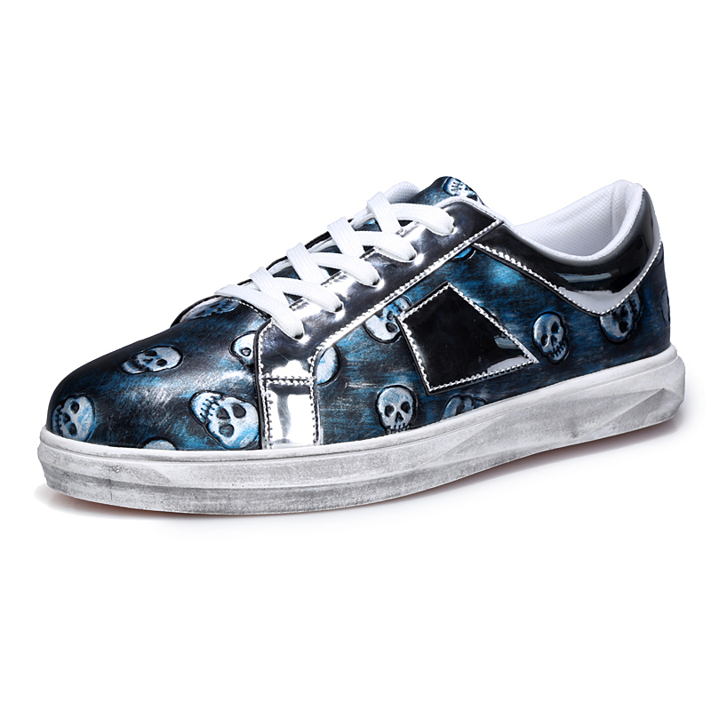 Arrival Fashion Canvas Casual Zapatos Multi Soft And Comfortable Walking Shoes Jogging Vintage Skull Pattern Shining Gothic(China (Mainland))