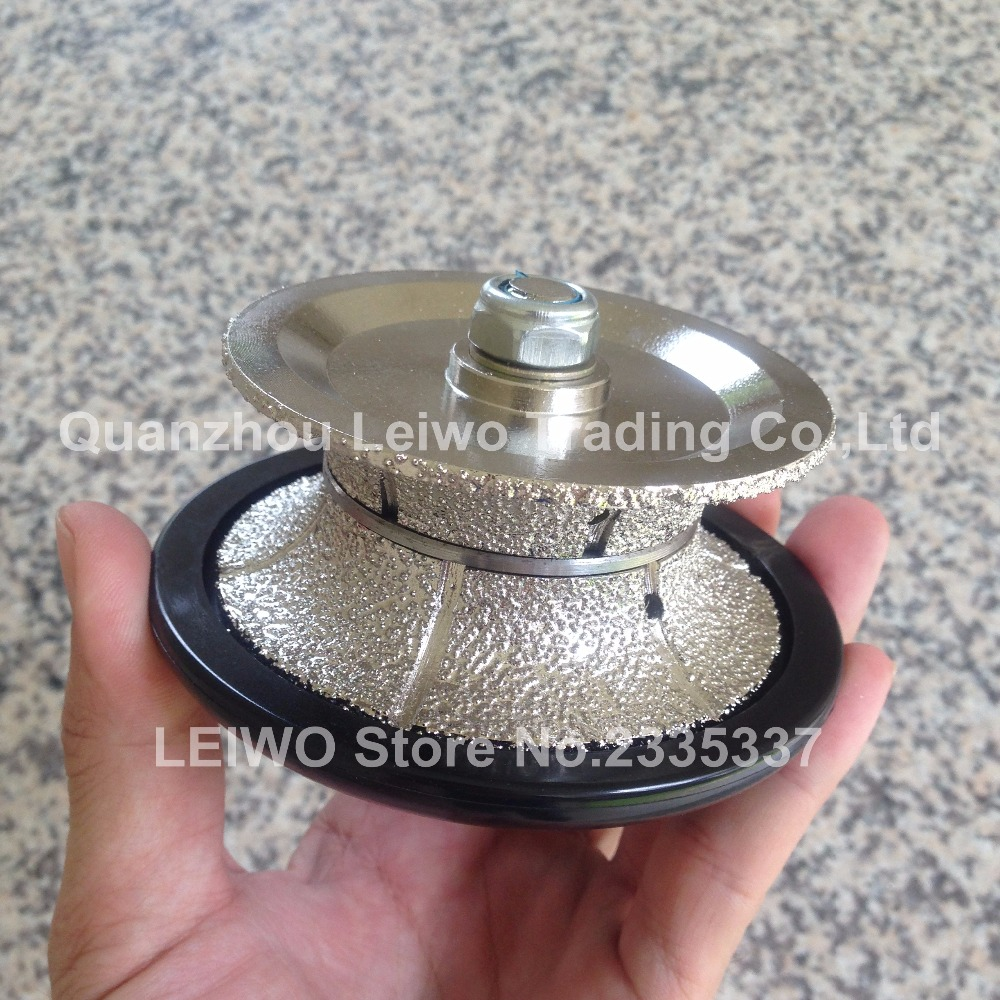 Vacuum Brazed V30 Full Bullnose Router Bit Diamond Profiling Wheel for Hand Tools Marble Limestone Soft Granite Wet or Dry(China (Mainland))