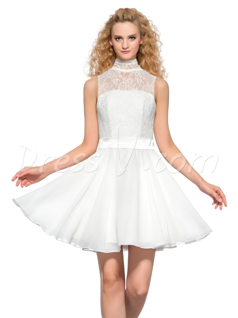 Plain White Dresses For Juniors