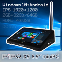 Original PiPO X9 Mini PC Doublu OS Android 4.4 +Windows 10 with Bing Intel Z3736F TV BOX 2GB DDR3 32GB Bluetooth 4.0 HDMI