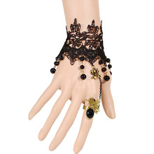 Chinese popular Korean hand woven fine lace Bracelet spider gemstone pendant jewelry wholesale 9039 Ms.(China (Mainland))