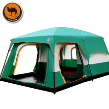 The camel outdoor 6/7/8/9/10-12 people camping 4season tent outing two bedroom tent big space high quality camping tent(China (Mainland))