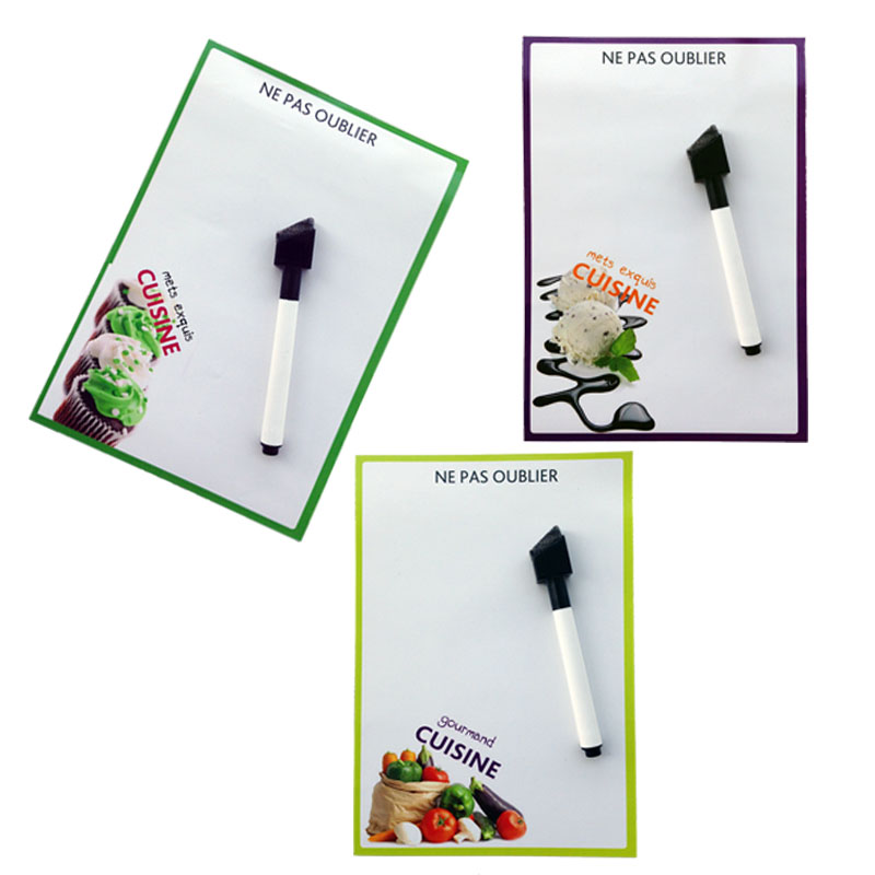 cuisine printed Dry Erase Flexible Magnetic Whiteboard/Message board/Memo Pad/Dialog Box Magnet(China (Mainland))