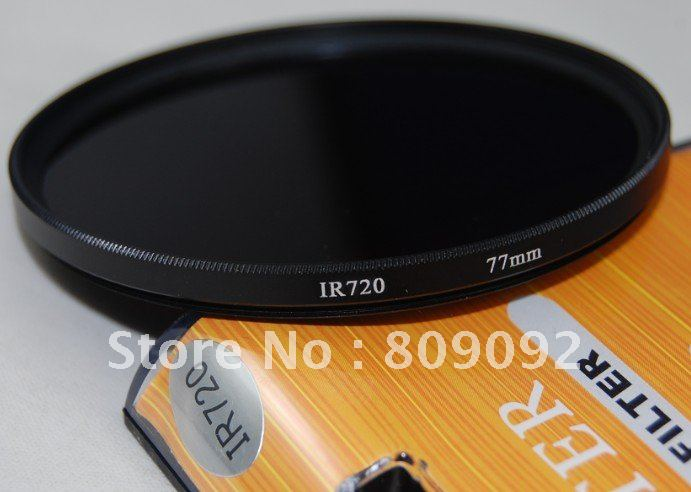 Professional 77mm IR720 Camera Lens Infrared Filters(China (Mainland))