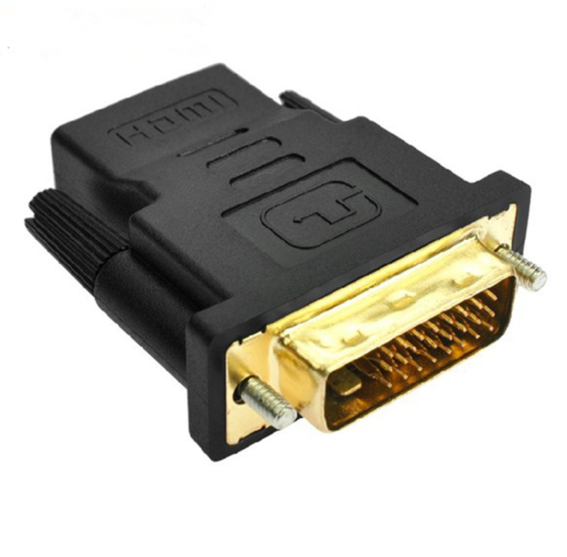 Free Shipping Computer Cables DVI 24+5 Male to HDMI Female Converter HDMI to DVI adapter Support 1080P for HDTV LCD<br><br>Aliexpress