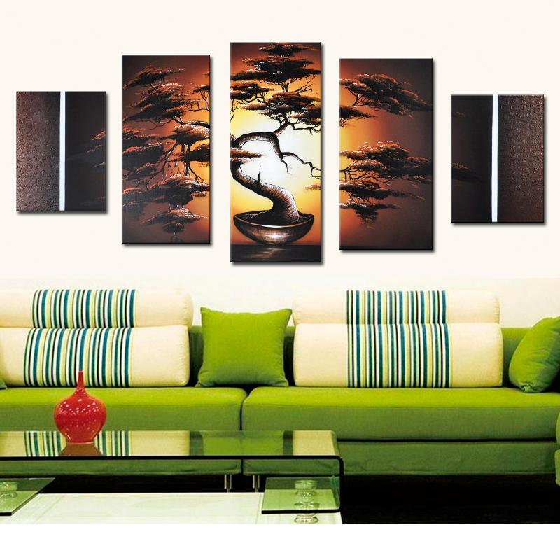Online kopen wholesale bonsai schilderijen uit china bonsai schilderijen groothandel - Muur decoratie eetkamer ...