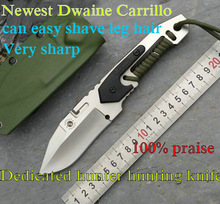 Quality Dwaine Carrillo multifunction fixed hunting knife D2 steel/60HRC/G10 handle outdoor survival rescue tool fishing knife