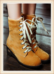 Big Size 34-43 Hoof Heels Solid Women Ankle Boots Ridding Boots With