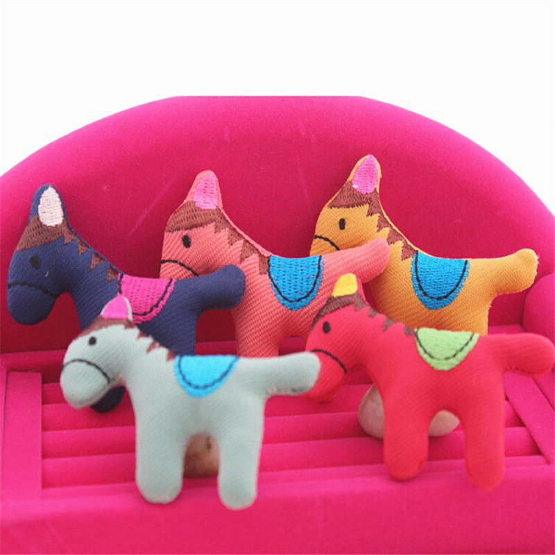 Free Shipping Handmade Fabric Crochet Animal Horse Toy 30PCS Assorted Color Wool Felt Craft for Girls Hair Jewelry Bow Decor(China (Mainland))