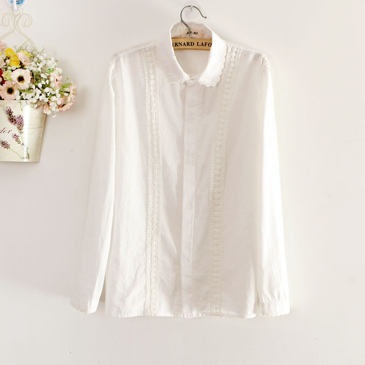 Women'S Plus Size White Button Up Blouse 19