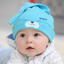 Cartoon Baby Girls Boys Toddlers Cotton Sleep Cap Headwear Lovely Hat 9 Colors QL