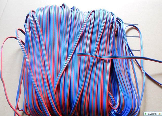 100m/lot;3pin cable for RGB color led strip&module,20AWG,100m long