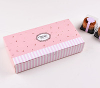 24.2*12.2*4.8cm Pink Cake Boxes For Biscuit cookie candy Macaron Boxes Gift Box Free shipping 100pcs/lot