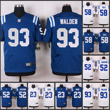 100% Elite men Indianapolis Colts 93 Erik Walden 58 Trent Cole 52 D'Qwell Jackson 23 Frank Gore A-1(China (Mainland))