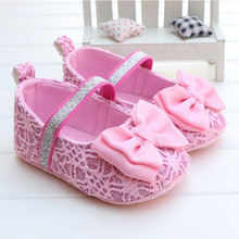 Free Shipping Newborn Baby girls shoes First walkers princess soft sole baby Shoes(China (Mainland))