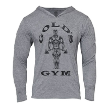 Mens Bodybuilding Hoodies Gym Hoodie Long sleeve Fitness Clothing Muscle Shirts Cotton Slim Golds Gym GASP Pullover moletons(China (Mainland))