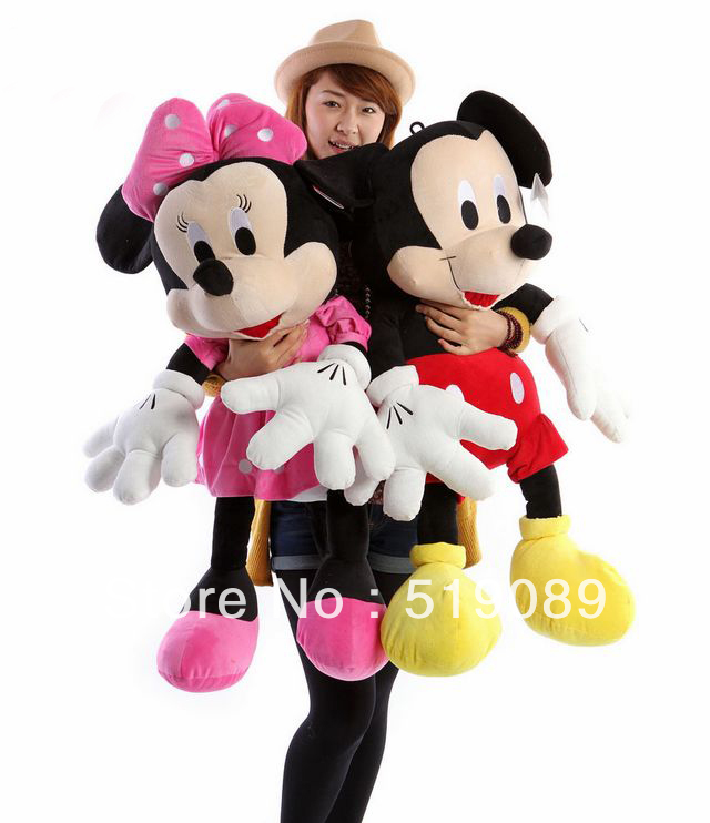 Free Shipping 70cm Hot Sale Lovely Mickey Mouse and Minnie Stuffed Animal Toys Children's Gift Wholesale ,Christmas Gifts(China (Mainland))