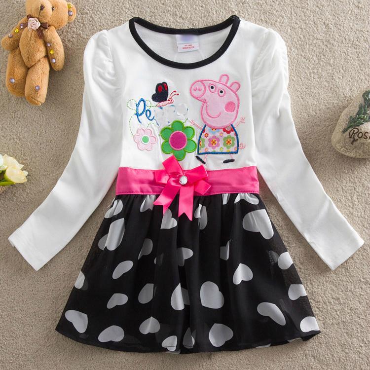 baby girl dress summer lace dress children 100% cotton children clothing ball gown party evening dresses kids long sleeve dress(China (Mainland))