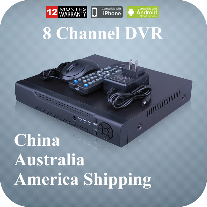 Surveillance Video Recorder Mini CCTV DVR 8 Channel D1/960H H.264 Network 8CH DVR for Home Security Monitoring CCTV Camera(China (Mainland))