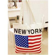 American flag Print Handbags Big Tote female Shopping Bag Canvas Beach Couple Shoulder Crossbody Bags vy - Vicky's Fashion mall store
