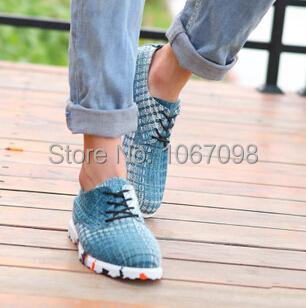 The new 2015 breathable woven cotton leisure men s shoes  213