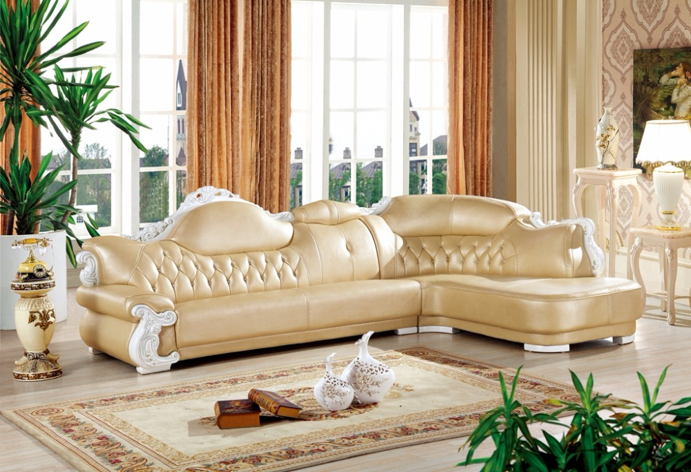 achetez en gros coin canap en cuir en ligne des grossistes coin canap en cuir chinois. Black Bedroom Furniture Sets. Home Design Ideas