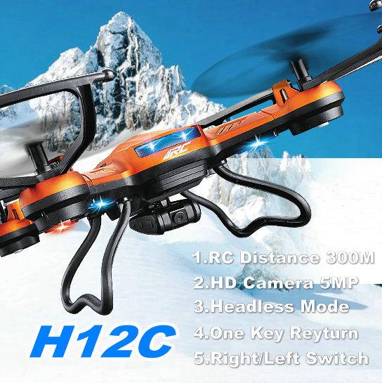 JJRC H12C Mini Phantom 2 Drone 2.4G 4CH Headless Mode One Key Auto Return RC Quadcopter Can Take 5MP Camera Better than X5C(China (Mainland))
