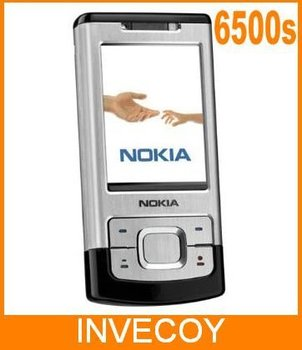 20pcs/lot EMS Free 6500S Original NOKIA 6500s unlocked cell phone With 3.15MP Camera Bluetooth 3G slider freeship
