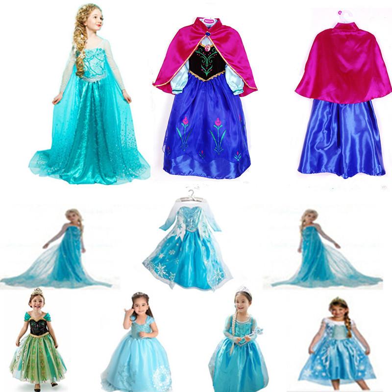 2015 Halloween Costume For Kids Snow Queen Dress Anna Elsa Dresses Elsa Clothing Girls,Brand Baby Girl Clothes,Kids tutu(China (Mainland))