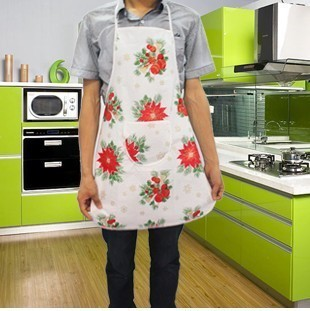 2016 Real Tablier Cuisine Delantales Korean Cute Fashion Printed Satin Waterproof Grease Pe Adult Aprons Home Kitchen Essential(China (Mainland))