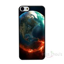 For iphone 4/4s 5/5s 5c SE 6/6s 7 plus ipod touch 4/5/6 back skins mobile cellphone cases cover Fire Sunset Beach Fashion