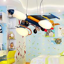 LED Children Kids Baby Bedrooom Artistic Stainless Steel Pendant Lights Hanging Lamp Hanglamp Airplane Featured Fixture Lighting(China (Mainland))