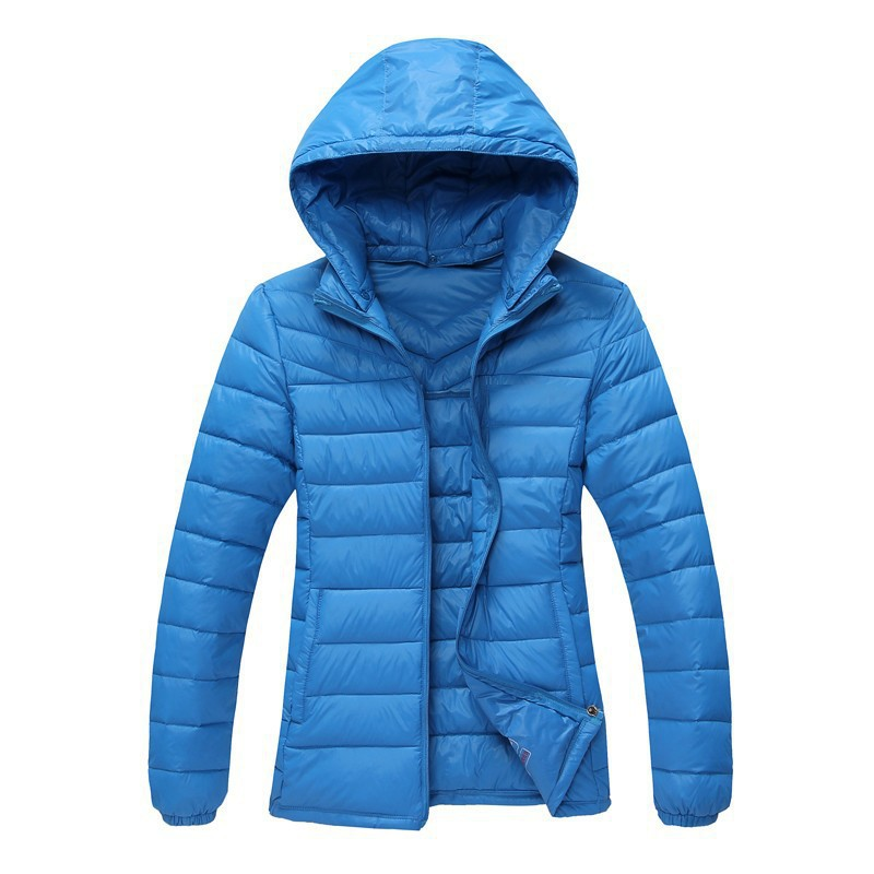 S-4XL Woman's Winter Outerwear Slim Hooded Down Jacket Woman Ultra Light Down Coats Woman 90% White Duck Down Parkas DZ-195(China (Mainland))