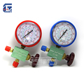 High Low Pressure Manifold Gauge R134a R404a R22 R410a Manometer with Valve A C Air Conditioning