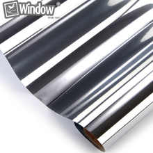 50cm x150cm Solar window Tints Reflective silver sticker one way mirror window film privacy security(China (Mainland))