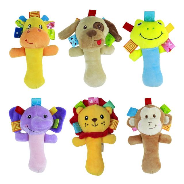 1 шт. мягкие детские игрушки мультфильм животная модель Ringbell погремушка пищалка Rod детские погремушка смазливая музыкальный подарок