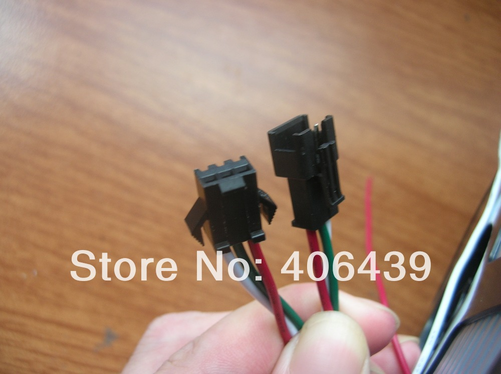 LED Connector WS2811 led pixel strip;3pins cable wires;male connector female connector;100sets/lot - SCOTT Store store
