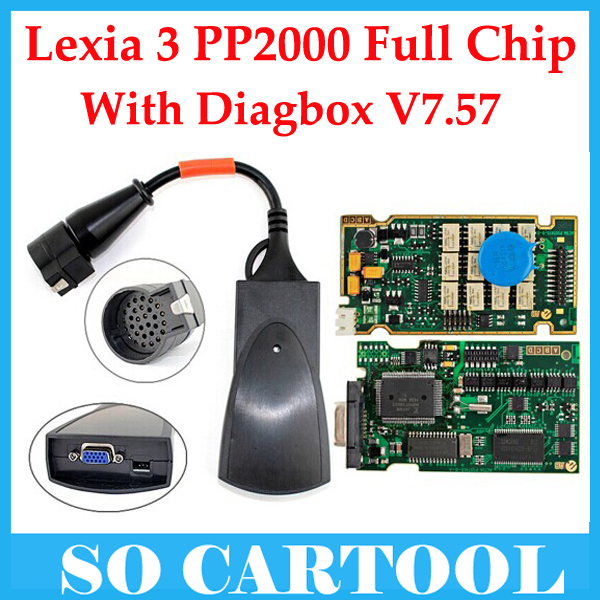 Full Chip Lexia-3 Lexia3 V48 C'itr0en/P'euge0t Diagnostic PP2000 V25 Diagbox V7.57 Software - So Cartool Co., Ltd store