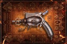 steampunk mechanical vintage weapons guns pistol 4-Size Home Decoration Canvas Poster Print
