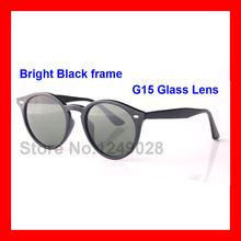 Highest Quality Fashion Retro Vintage Sunglasses for Men Women Sunglasses Trend Round Style Sun Glasses Eyewear 51mm glass Lens(China (Mainland))