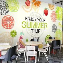 Custom photo wallpaper large mural fresco fruit wallpaper 3D stereoscopic restaurant wallpaper DJ625