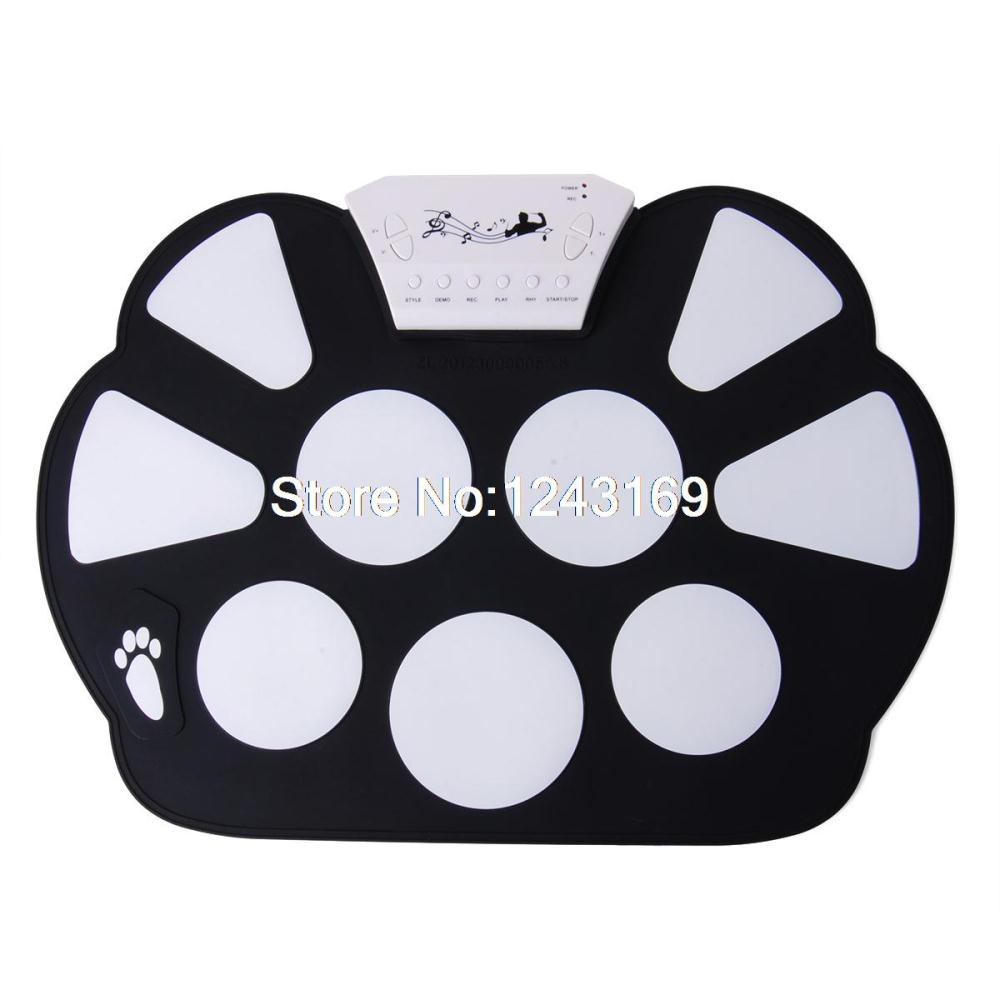 New Portable USB Digital Electronic Tabletop Roll up Drum Set Musical Instrument TE084(China (Mainland))
