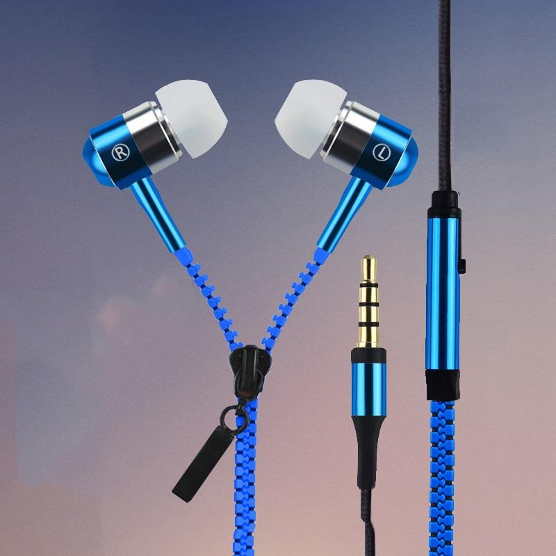 2015 New Metal Zipper font b Earphones b font 3 5mm in ear font b earphone