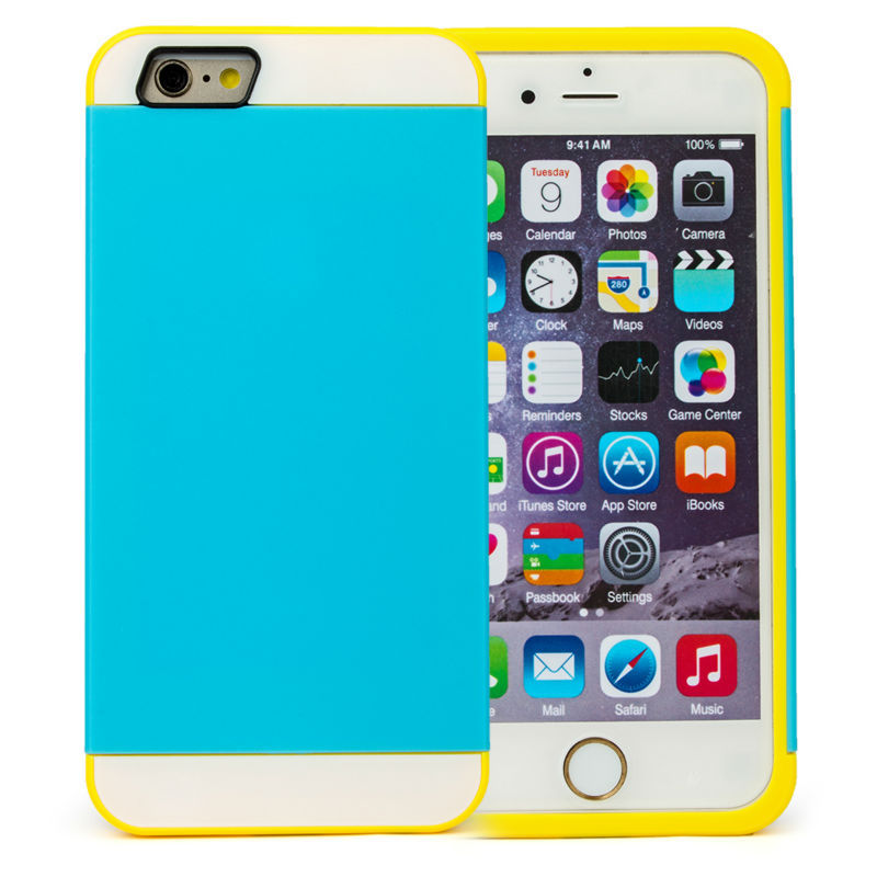 phone cases iphone 6s Contrast Color Blocking iPhone 6 case cover smartphone skin plastic silicon mobile 4.7 inch - Make Each Day Count store