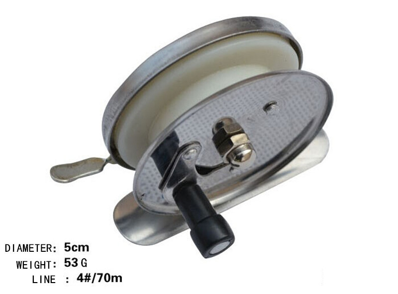 Iron fishing reel 5cm 4#/70m export fly wheel ice fishing rod road and gossip<br><br>Aliexpress