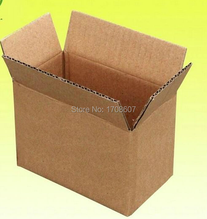 Free Ship hot sale Size 13*8*9cm Recyclable packaging packing shipping boxes,brown kraft carton boxes wholesale(China (Mainland))